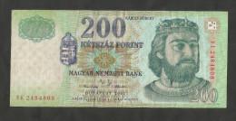 HUNGARY / MAGYAR - NATIONAL BANK - 200 FORINT (BUDAPEST 2001) - Ungheria