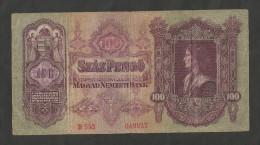 HUNGARY / MAGYAR - NATIONAL BANK - 100 PENGO (1930) - Ungheria