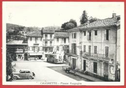 CARTOLINA VG ITALIA - CAVORETTO (TO) - Piazza Freguglia - 10 X 15 - ANN. 1954 - Italia