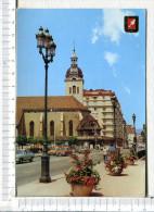 ANNECY   -  Eglise  St  Maurice - Place De L Hôtel De Ville  - Véhicules - Annecy