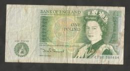 UNITED KINGDOM - BANK Of ENGLAND - 1 POUND (D. SOMERSET - 1980 / 1988) QUEEN ELIZABETH II - 1 Pound