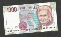 REPUBBLICA ITALIANA - 1000 Lire MONTESSORI (Firme: Ciampi / Speziali) - ITALIA - [ 2] 1946-… : Repubblica