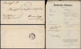 Germany 1873 Postal History Rare Stampless Cover + Content Sindringen To Oehringen DB.100 - Deutschland
