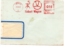 "Germany 1936, Chemnitz., Third Reich, Red Meter Mark With ""Rising Sun Swastika/Hakenkreuz - Interesting - Germany"