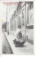 Les Petits Métiers Parisiens - La Bouquetière - Offert Chocolat Lorrain - Métiers