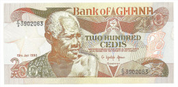 Ghana 200 Cedis 1990 UNC - Ghana