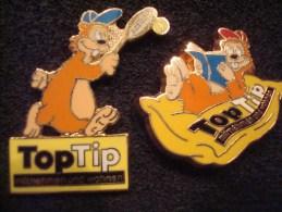 TOPTIP (MITNEHMEN UND WOHNEN) 2 Pin's ; TENNIS Et LECTURE - Marques