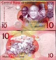 LESOTHO 10 MALOTI 2010 2011 P NEW UNC - Lesotho