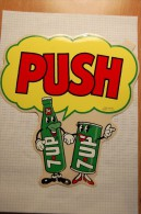 Vintage 1960/1970's Soda 7UP Decal Stickers - Autocollants