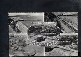 F2970 Greetings From   Sandown IOW Multiview: The Pier And Culver Point, The Beach, Swimming Pool - Sandown