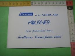 47)   Trouville : Voeux  1996  Selectour Et Bus Fournier   ; Autocar  2 Scans - Trouville