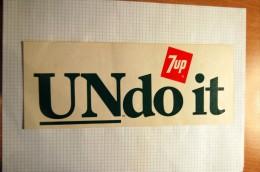 Vintage 1960/1970's Soda 7UP Undoit Decal Sticker - Autocollants
