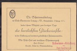 Postkarte Leipzig Postsportverein Werbestempel 1938 - Allemagne