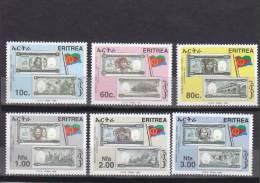 Stamps ERITREA 1999 SC#322-327 ERITREA NATIONAL CURRENCY (6 VALE) MNH ER#15 LOOK - Eritrea
