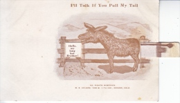 EARLY  CENTURY  TAIL  PULLS  OUT  DONKEY - Mechanical