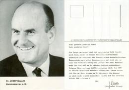 AK Dr.Josef Klaus ÖVP Nationalratsnachwahl Österreich 4.10.1970 Wien Bundeskanzler Österreichische Volkspartei VP Vienna - Parteien & Wahlen
