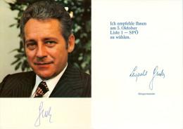 AK Leopold Gratz Wiener Bürgermeister SPÖ Wien-Ottakring Wahlwerbung Wahlen Wr. Sozialistische Partei Sozialisten Vienna - Parteien & Wahlen