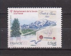 FRANCE / 2010 / Y&T N° 4441 : Traité De Turin (Rattachement De La Savoie) - Choisi - Cachet Rond - Frankreich