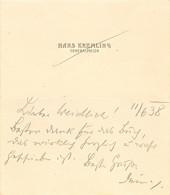 Visitenkarte Generalmajor Hans Kremling Linz Österreich Austria Militär Heer Armee Army Offizier Visiting Card - Visitenkarten