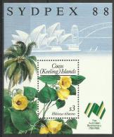 COCOS (KEELING) ISLANDS - 1988 Sydpex 88 Souvenir Sheet **  SG MS203  Sc 199 - Cocos (Keeling) Islands