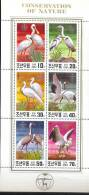 MINT NEVER HINGED MINI SHEET OF BIRDS   #   M-498-2 ( KOREA    1991 - Unclassified