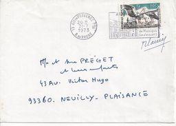 Y&T N°1755 (AVEC SIGNATURE DU GRAVEUR) AIX EN PROVENCE       Vers   NEUILLY              Le   19 JUIN1973  2 SCANS - Covers & Documents