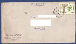 INDIA 1988 POSTAL USED AIRMAIL COVER TO PAKISTAN TREES TREE - India