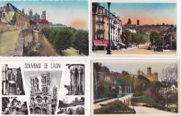 LOT  DE  8  CPA   &  10  CPSM   DE  LAON    -  Toutes Scanées - Cartes Postales