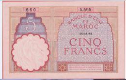 MAROC - 5 Francs Du 14 11 1941 - Pick Ab - Maroc