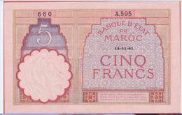 MAROC - 5 Francs Du 14 11 1941 - Pick 23Ab - Morocco