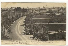 Carte Postale Ancienne  Québec - Parc Victoria, Avenue Principale - Autres