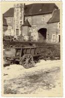 CP Neuville En Condroz - La Maison Rouge - Chateau - Charette En Bois - Circulé - Neupre