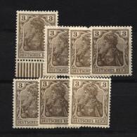 D.R.84IIa,7 Farbtöne,xx (4210) - Unused Stamps