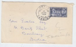 Newfoundland/India COVER ROYAL LANDING 1939 - America (Other)