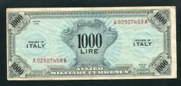 1943 AMGOT AMLIRE £. 1000 BEP MOLTO BELLA E MOLTO RARA