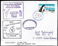 ANTARCTIC, CHILE, Base PRESIDENTE EDUARDO FREI , Marking  8.ENE 1995 +3 Cachets, Look Scan !!  1.12-09 - Stamps