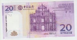 Macau 20 Patacas 2013 Pick 109 UNC - Macao