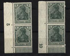 D.R.85IIa,2 Eckpaare Vom Walzendruck,xx (4210) - Germany