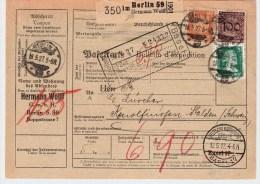 DR, 1927, Ausland-Paketkarte , S824 - Deutschland