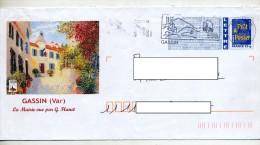 Pap Logo Bleu Flamme Gassin Illustré Mairie Gassin - Biglietto Postale
