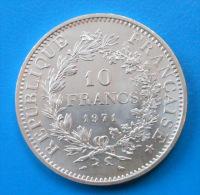 10 Francs Hercule 1971 RARE ET SPLENDIDE - K. 10 Francs