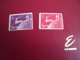 (L  63)  TIMBRE   De ISRAEL 1949 Y.T.  N°27* / 28** - Neufs (sans Tabs)