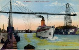 "N°41789 -cpa Nantes -le Pont Transbordeur- Le ""Romaris"" - Commerce"