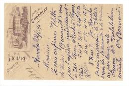 10651 - Carte Postale Fabrique N°5 De Chocolat Suchard Neuchâtel Publicité Avenches  23.07.1895 - Entiers Postaux