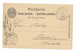 10653 - Carte Postale Fabrique Bludenz De Chocolat Suchard Neuchâtel Publicité Grandvaux  15.07.1897 - Entiers Postaux