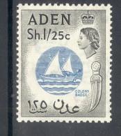 ADEN, 1953 1sh25c (wmk Script CA) UM (MNH), Cat £11 - Aden (1854-1963)