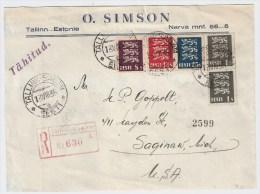 "Estland, 1935, Reco-Brief "" Tallinn-Sadam ""   S808 - Estland"