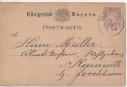 Nr.  3026 ,  Ganzsache Königreich Bayern,  Triesdorf - Bavière