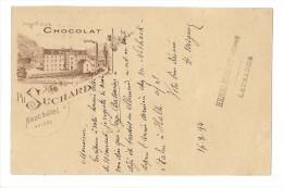 10660 - Publicité  Fabrique De Chocolat Suchard N°6 Lausanne 16.08.1894 - Entiers Postaux