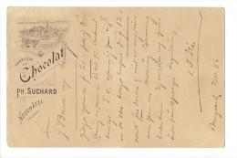 10663 - Publicité  Fabrique De Chocolat Suchard Bürgdorf 07.04.1896 - Entiers Postaux